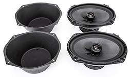 "NEW Skar Audio 6x9"" 400W 2 Way Car Audio Speaker System with"