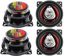 Boss Ch4220 Car Speaker 4Inch 2Way Chaos Extreme Red Polycon