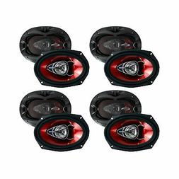 """BOSS Chaos 6x9"""" 2-Way 350W Car Coaxial Audio Speakers Stereo"""