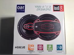 Dual Electronics DLS654 4-Way 6 ½ inch Car Speakers with 16
