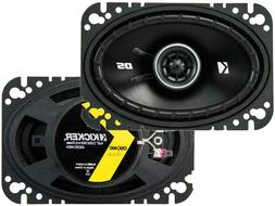 "Kicker DS Series 4x6"" 2-way Coaxial Car Speakers *43DSC4604"
