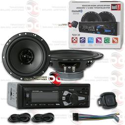 DUAL 1-DIN AM/FM CAR STEREO AUX MP3 USB WITH BLUETOOTH + 2 x