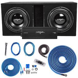 "SKAR AUDIO DUAL 12"" 5000 WATT COMPLETE SUBWOOFER LOADED VENT"