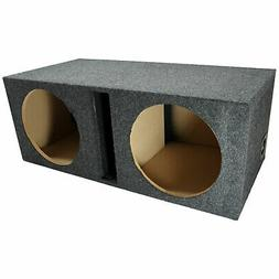 "Car Audio Dual 12"" Vented Subwoofer Stereo Sub Box Ported En"