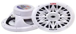 6x9 Inch Dual Marine Speakers - 2 Way Waterproof and Weather