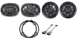 Front+Rear Kicker Factory Speaker Replacement Kit For 2003-2