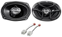6x9 JVC Front Factory Speaker Replacement Kit for 2006-08 Do