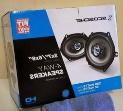 "-SCOSCHE HD57684 HD Speakers 5"" x 7""/6"" x 8"" Set   Brand New"