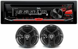 JVC KD-R370 Single DIN In-Dash CD/AM/FM/ Receiver with Detac