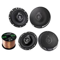 "Kenwood KFC-1795PS 660W 6-3/4"" 3-Way Black Car Speakers, Ken"