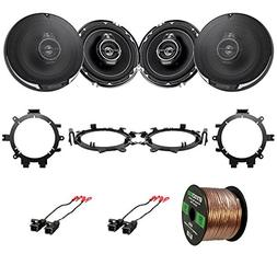 "EnrockAutomotive 4X Kenwood KFC1695PS 6.5"" 3-Way 320 Watt Sp"