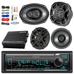Kenwood Bluetooth AM/FM Car Stereo Receiver Bundle Combo wit