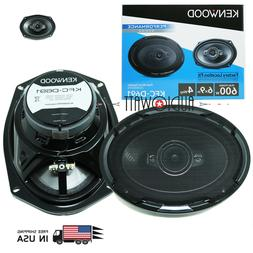 "Kenwood KFC-D691 6X9"" 4 Way coaxial Car Speakers Pair 600W r"