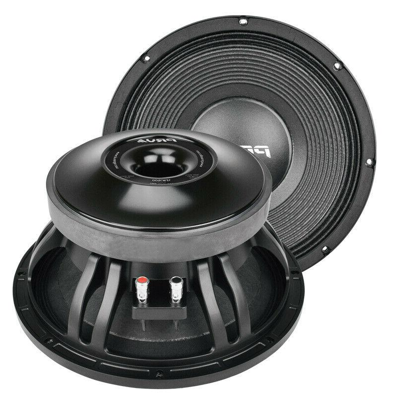 "2 12"" Woofer Pro Loud Speakers 8-ohm Midbass"