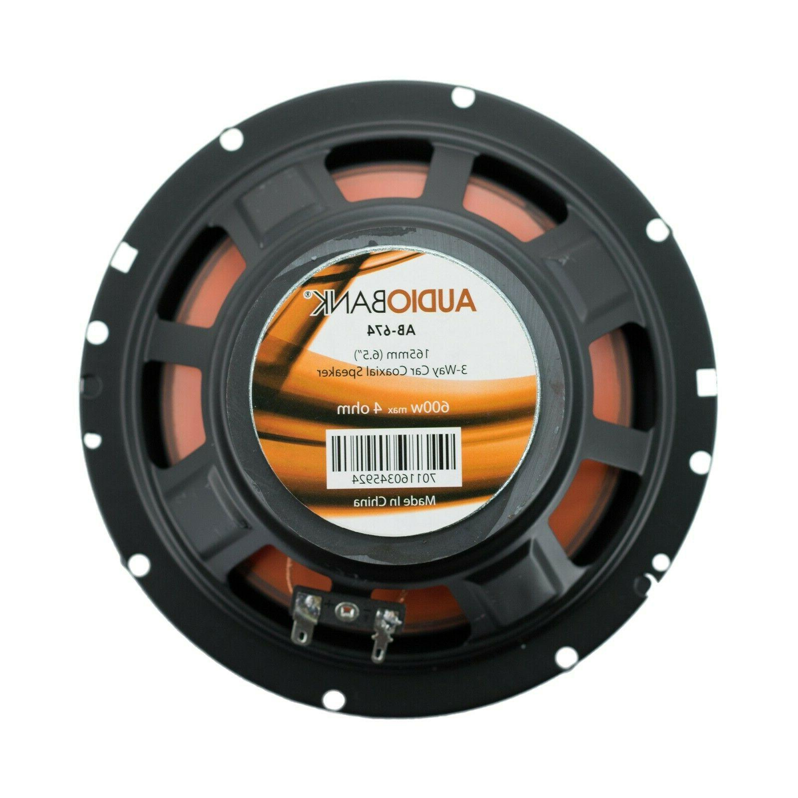 2) Watt 3-Way Orange Car Audio Stereo - AB674