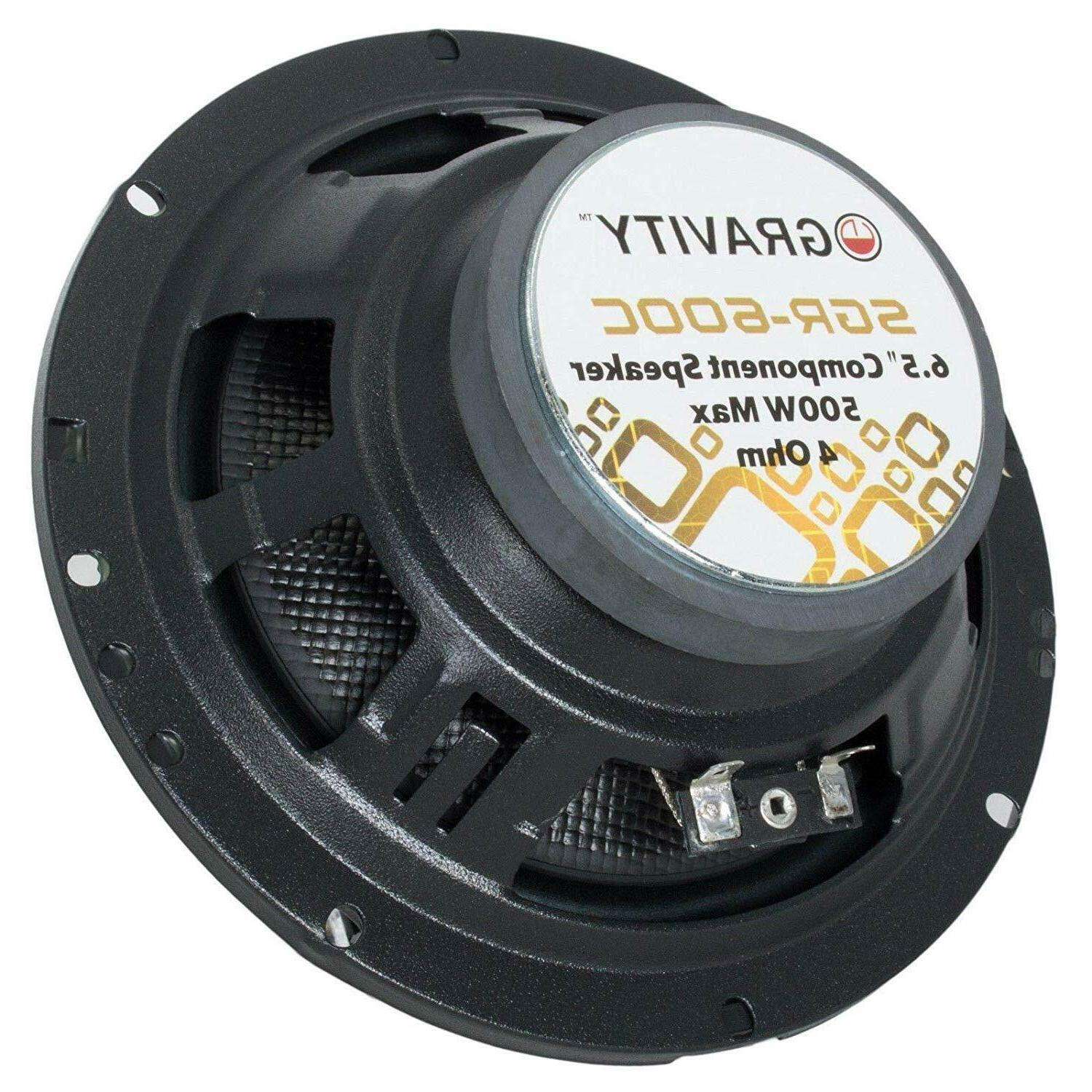 Pairs Gravity 6.5-Inch 2-Way Car Audio Component