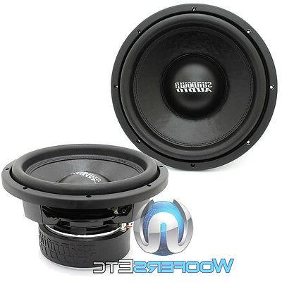 "SUNDOWN D4 12"" 750W DUAL 4-OHM SPEAKERS"