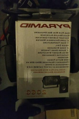 Pyramid Car Box Speakers Indoor Stereo