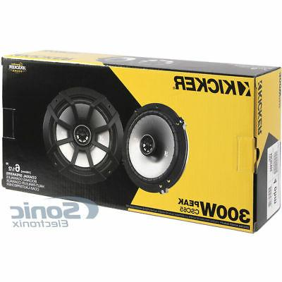"4) Kicker CS Series 6.5"" 600W 2-Way"