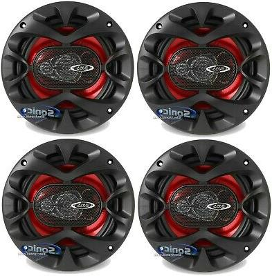 "4) New BOSS CH6530 6.5"" 3-Way 600W Car Audio Coaxial Speaker"