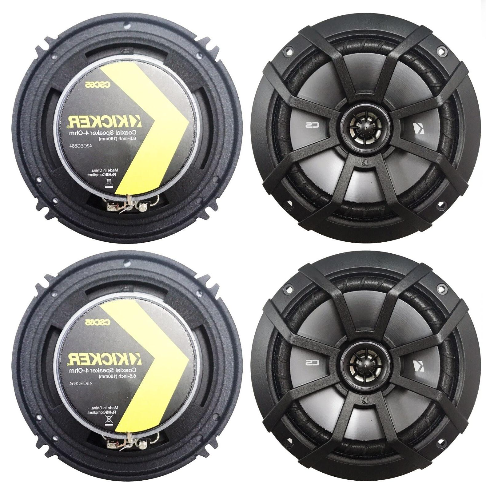 "-4- CS Series 6.5"" 2-Way Car Speakers,"
