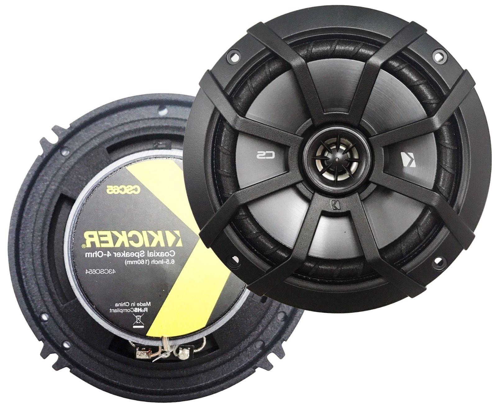 "-4- Kicker CS 6.5"" Coaxial Speakers, 43CSC65"