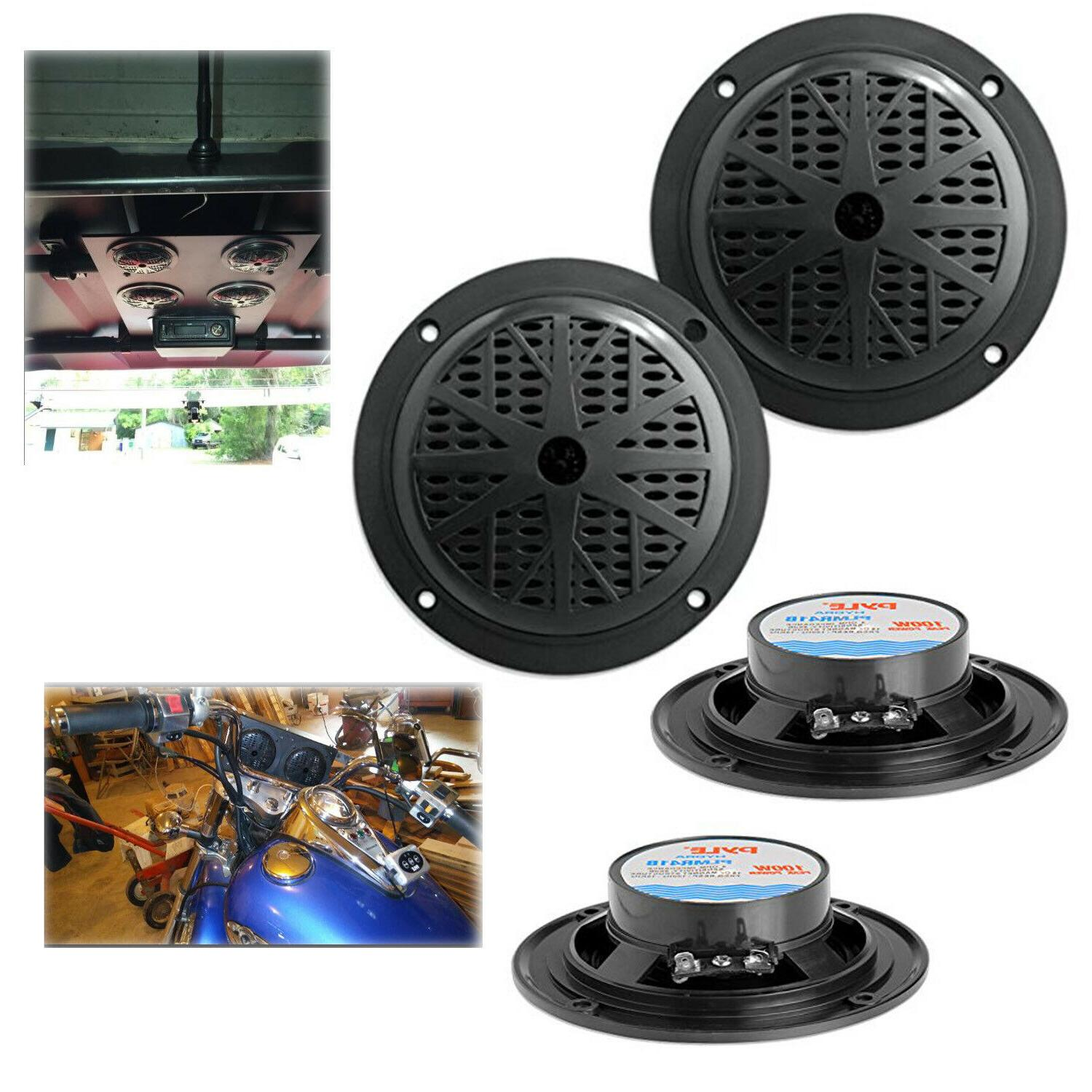 4 inch dual cone waterproof stereo speakers