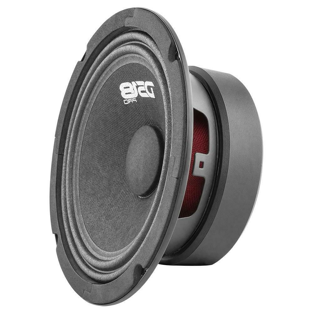 4) DS18 PRO-GM6.4 6.5 Ohm Pro Car Mid Bass Speakers