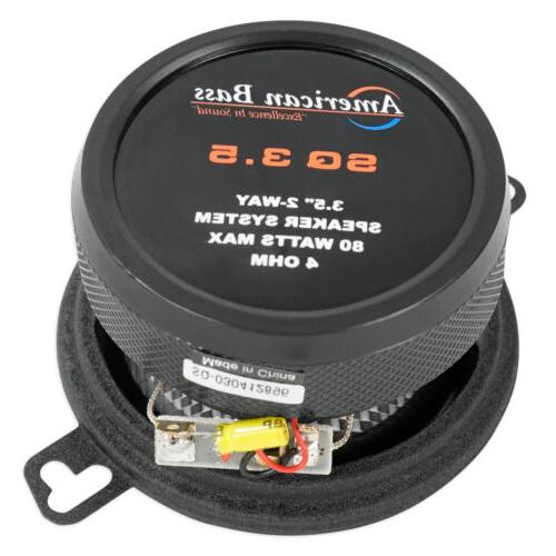 "American 3.5"" 40w RMS Car Audio Swivel"