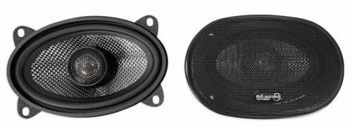 "Bass SQ 4.6 4x6"" RMS Car Speakers with Neo Swivel Tweeters"