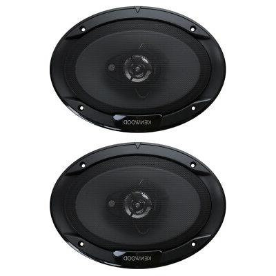 "Kenwood 6"" x 9"" 400W 3-Way Car Audio Flush Mount Coaxial Ste"