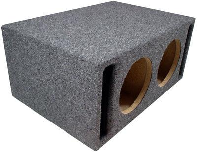 Car Dual SPL Bass Subwoofer Vent Sub Enclosure