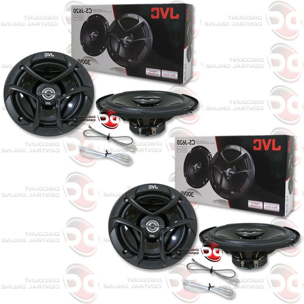 "4 x BRAND NEW JVC 6.5-INCH 6-1/2"" CAR AUDIO 2-WAY COAX SPEAK"