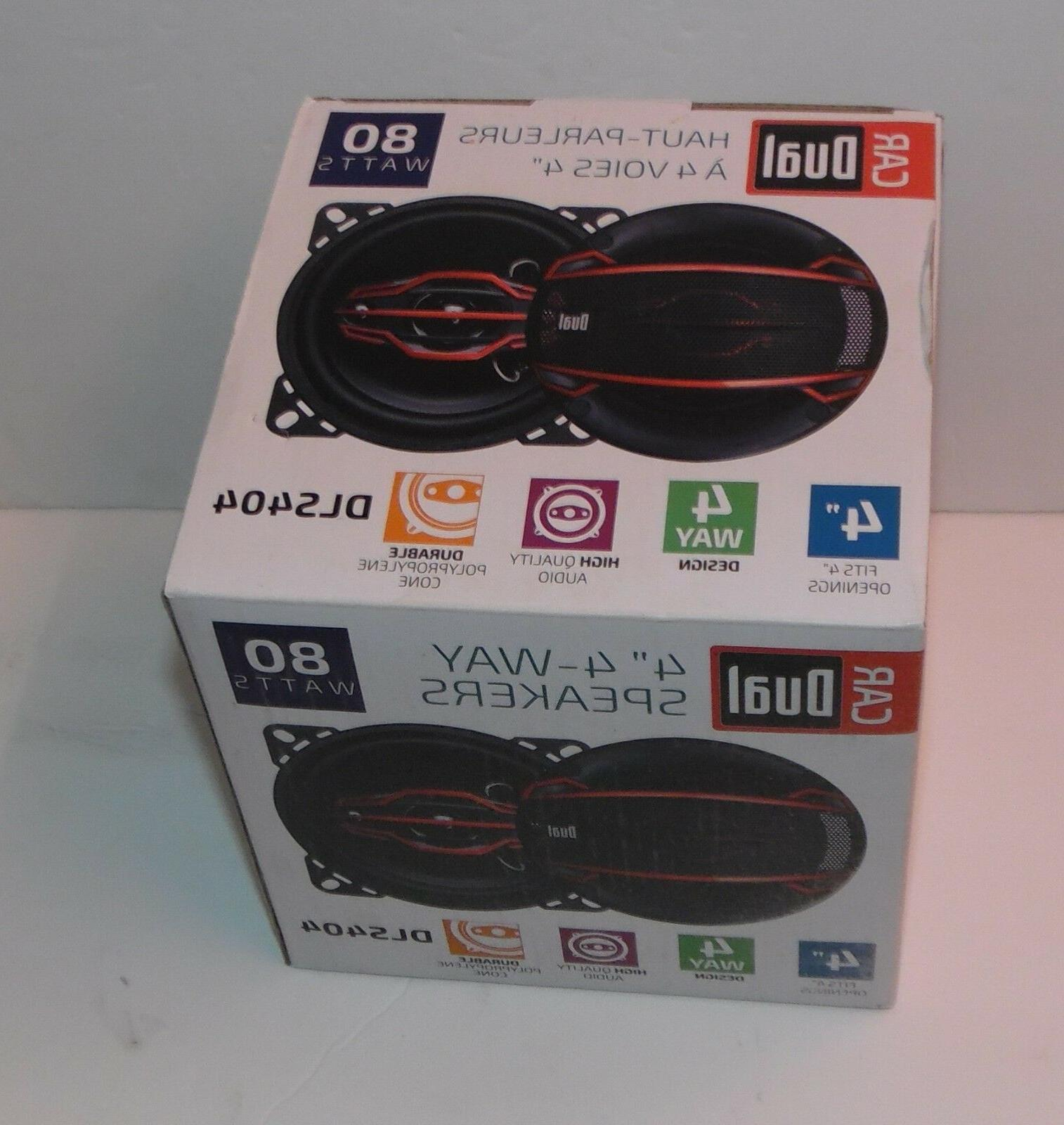 Dual Electronics 4 Speakers with & 30mm Mid