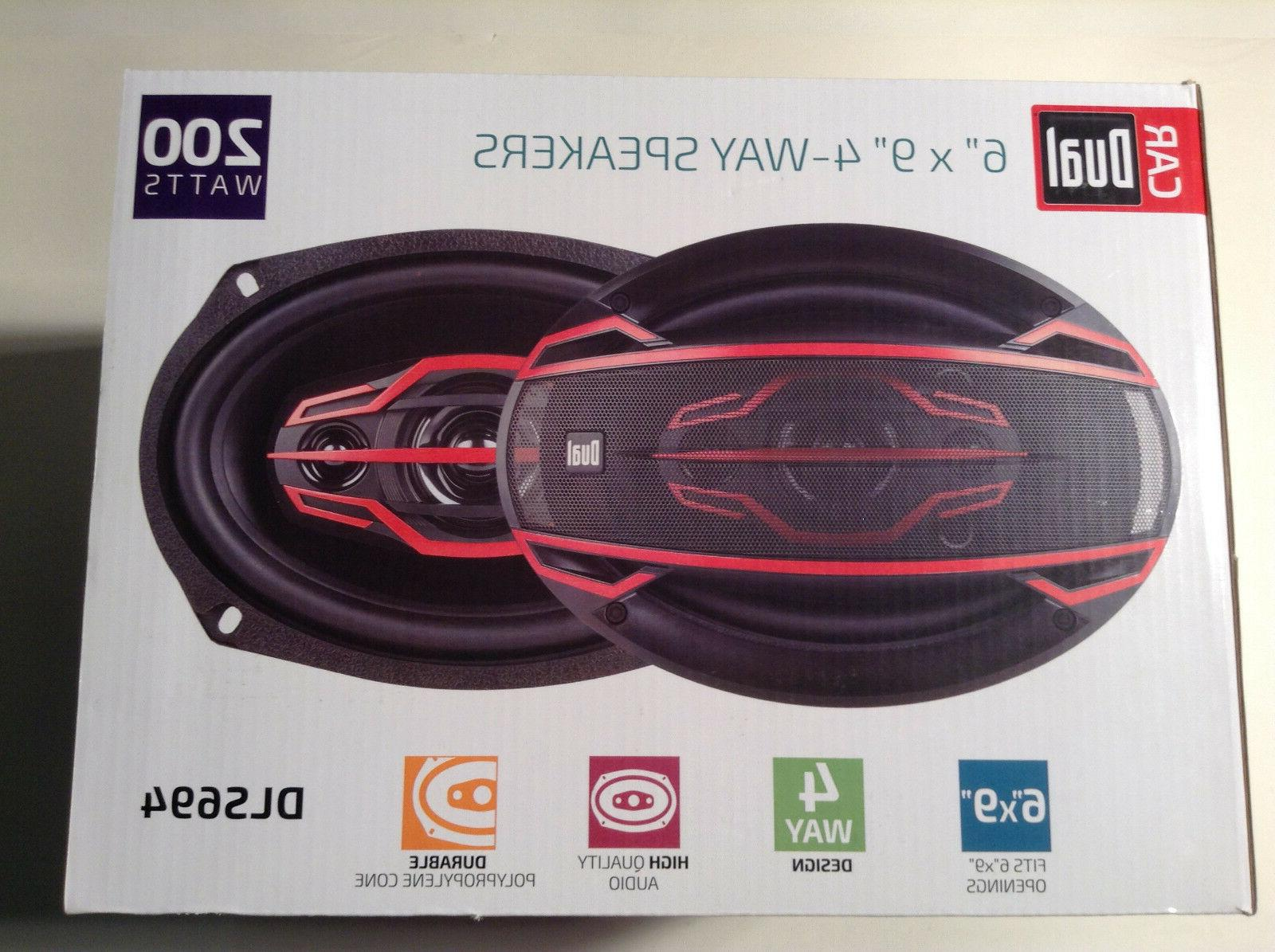 Dual DLS694 6X9-Inch 4-Way 200-Watt Speakers