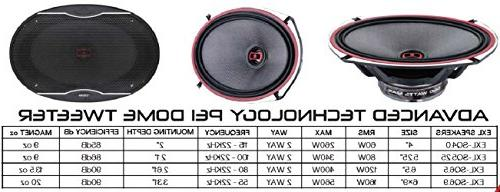 DS18 EXL-SQ5.25 5.25-Inch 3-OHMS High Sound Speaker Sleek Design Chrome Finish Bass Response - Max - 2