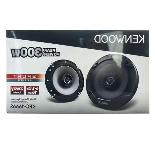 "Kenwood KFC-1666S 300 6.5"" 2-Way Car Audio Speakers 6-1/2"""