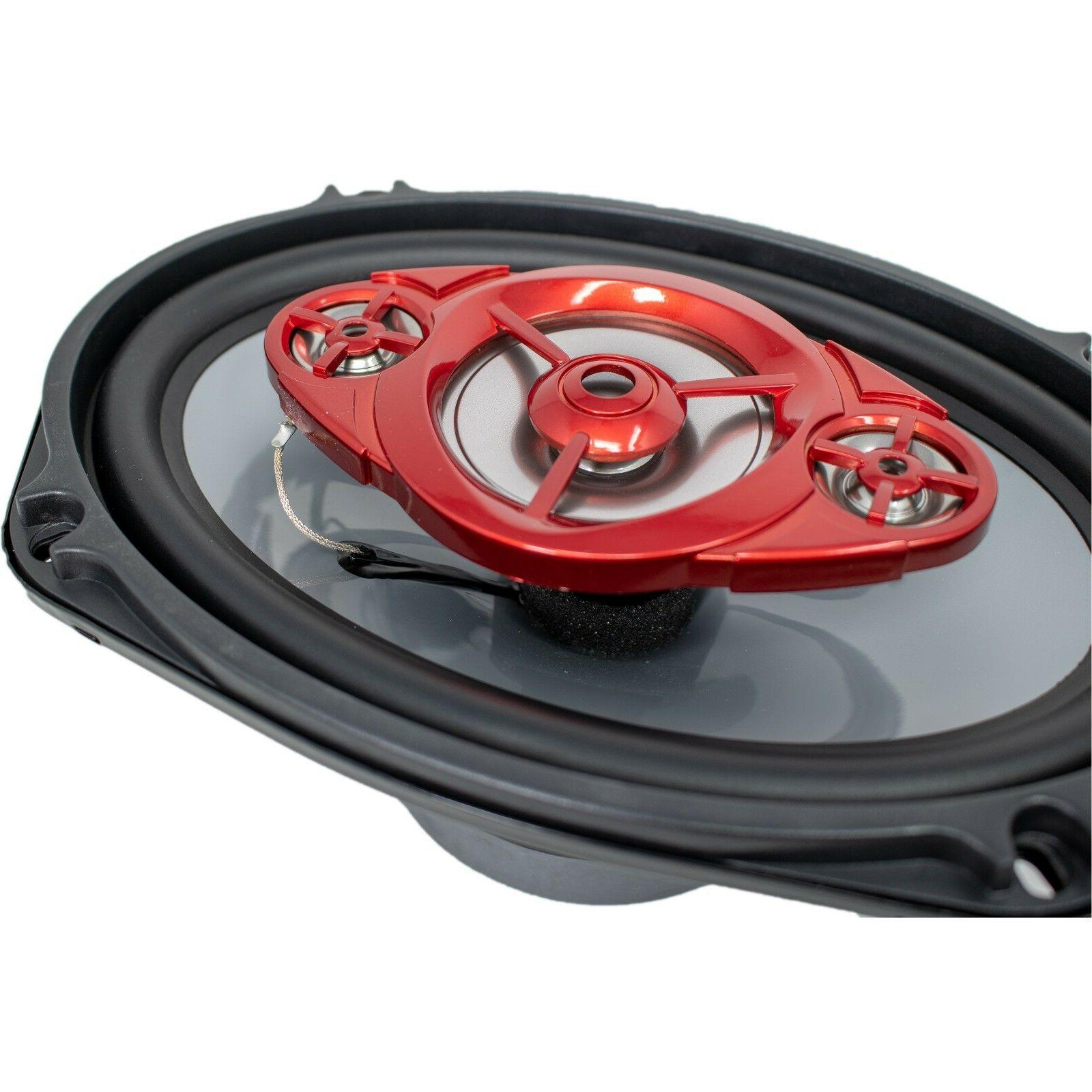 """New SoundXtreme 6x9"""" 4-Way 520 Watts Coaxial Speakers Rated"""