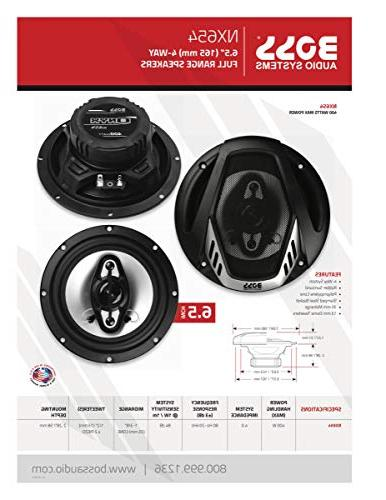 BOSS Audio NX654 Speakers - 400 Of Per Pair, 200 Watts Each, Inch, Full Range, Way,