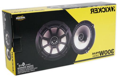 """Pair 43CSC654 6.5"""" 6-1/2"""" 600w 4-Ohm Car Coaxial Speakers"""