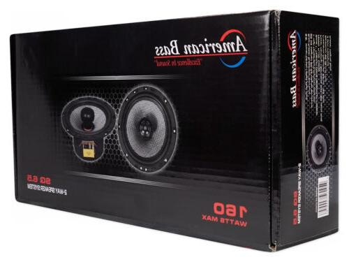 "6.5"" 80w Audio Speakers Swivel Tweeters"