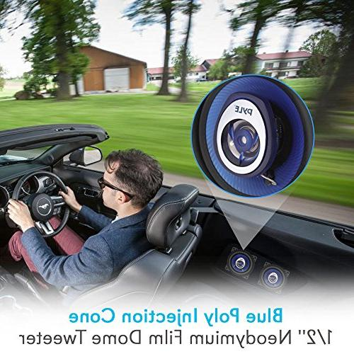 "4"" Car Speaker - Injection 2-Way 180 Watt Butyl - 4 ASV Voice Pyle PL42BL"