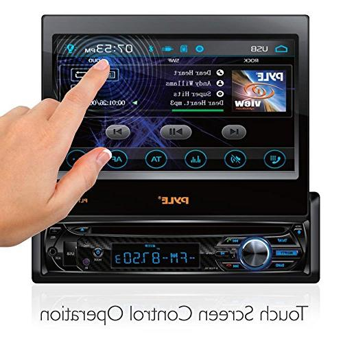 Single DIN Head Receiver Car Stereo Touchscreen Video for Wireless Streaming & Hands-free Pyle PLTS78DUB