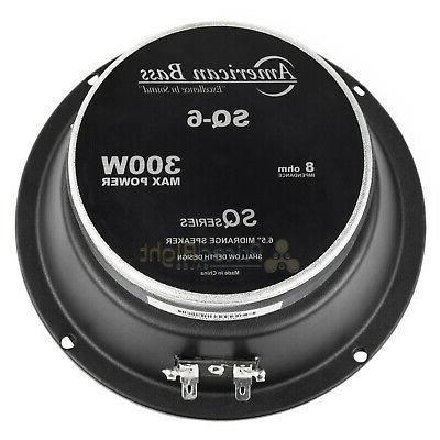 American Bass SQ-6 Midrange Car Speaker 300 Watts Max Ultra SQ6