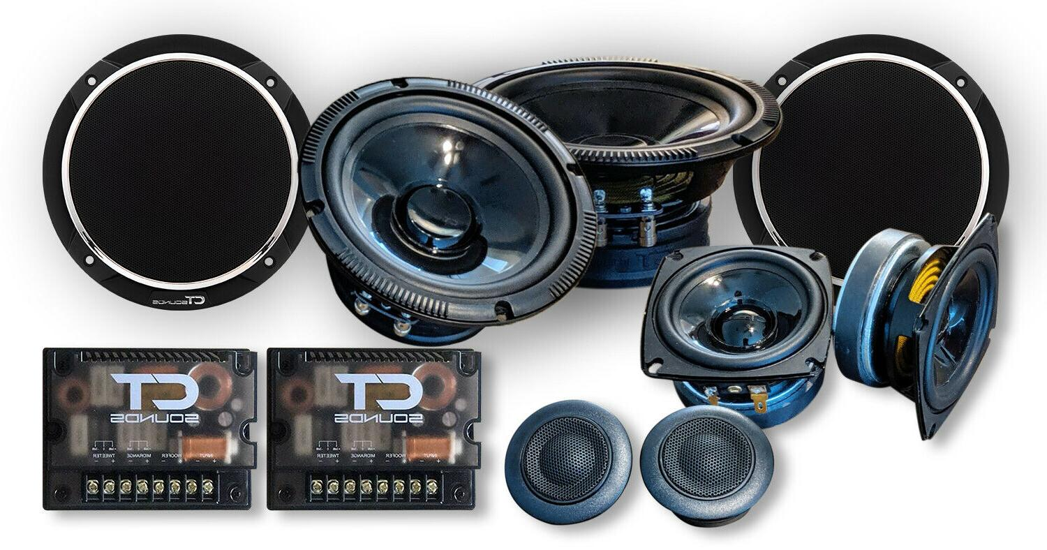 """CT Sounds 6.5"""" 3 Way Component Car Speakers Full Range Comp"""