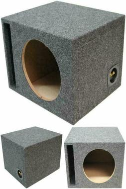 MDF Vented Ported Subwoofer Box Car Audio Stereo Bass Speake
