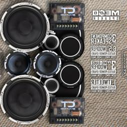 """CT Sounds Meso 6.5"""" Inch 3 Way Car Audio Component Speakers"""