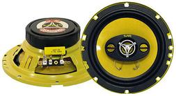 "NEW  6.5"" 4-way Car Audio Speakers.4 ohm Stereo Pair.OEM Doo"
