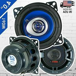 "New Gravity 4"" inch 2-Way 160 Watts Coaxial Car Speakers CEA"