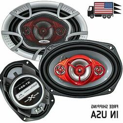 "New SoundXtreme 6x9"" 4-Way 520 Watts Coaxial Car Speakers CE"
